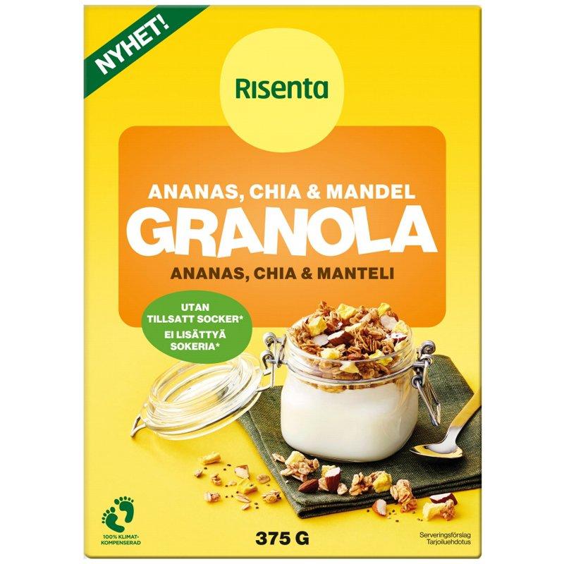 Granola Ananas, Chia & Manteli - 28% alennus