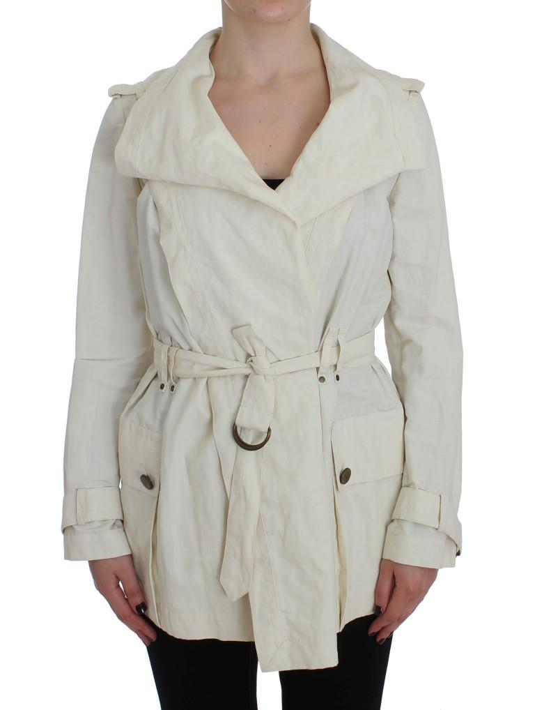 PLEIN SUD Women's Trench Coat White SIG30998 - IT42 | S