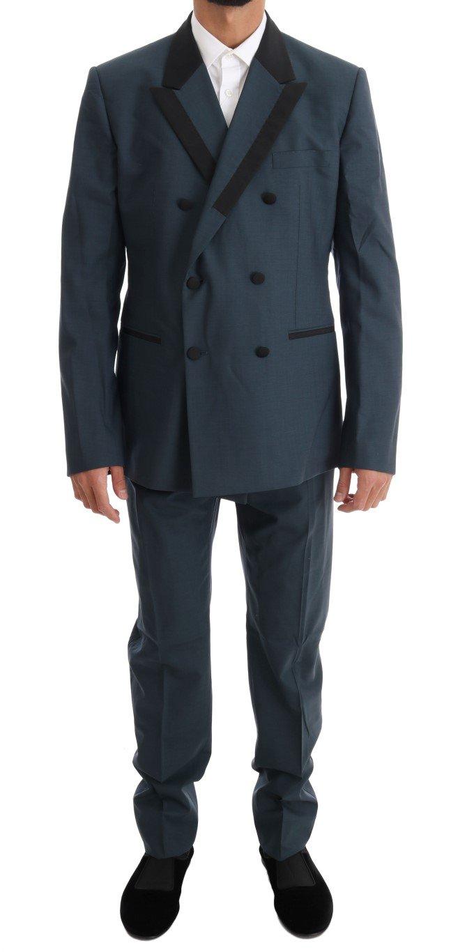 Dolce & Gabbana Men's Wool Double Breasted 3 Piece Suit Blue KOS1082 - IT54 | XL