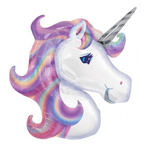 Folieballong Unicorn Huvud