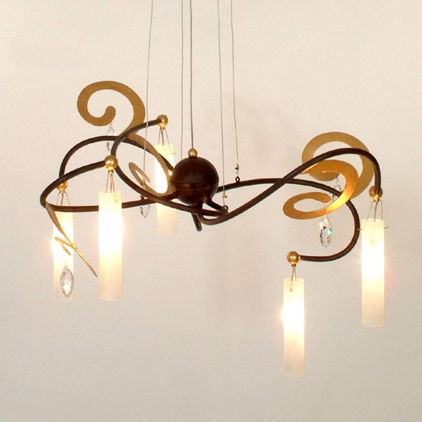 Kaunis riippuvalaisin CASINO 5-lamppuinen