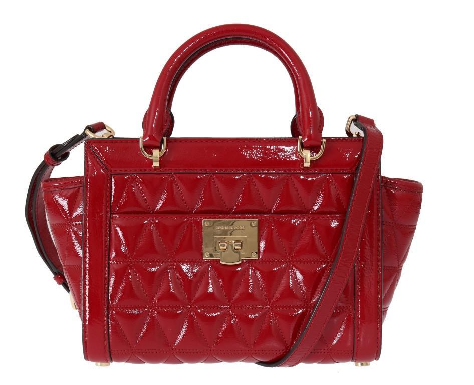 Michael Kors Women's VIVIANNE Crossbody Bag Red MK5014