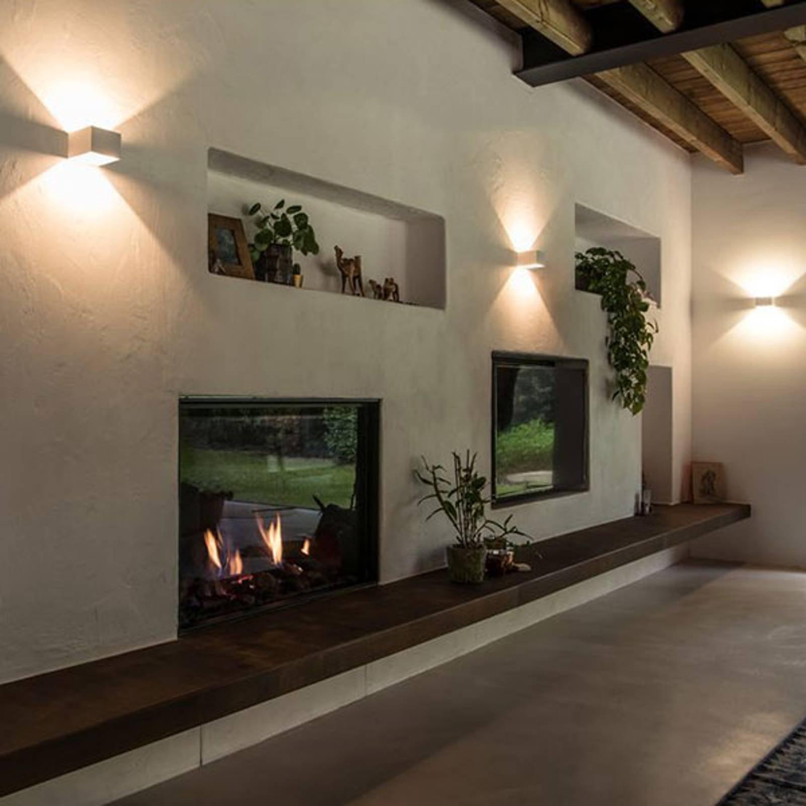 SLV Logs In LED-vegglampe, 10 cm, hvit/hvit