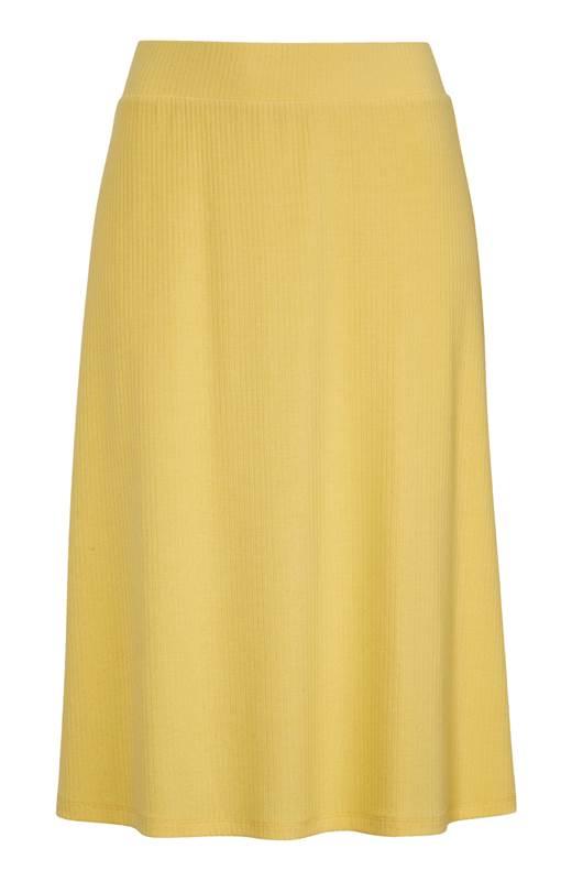 Happy Holly Ribbstickad kjol Charlie Gul