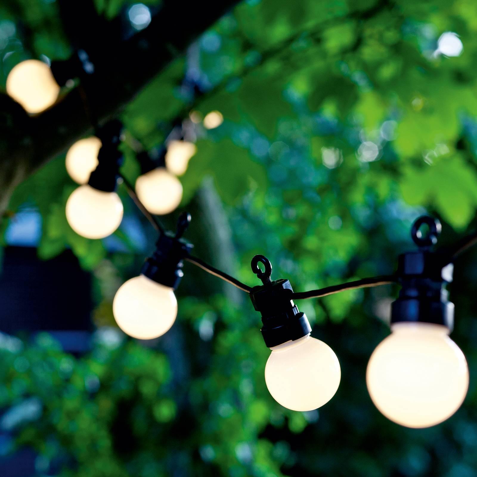 LED-valoketju Lucas aloitussarja 10 lamppua huurre