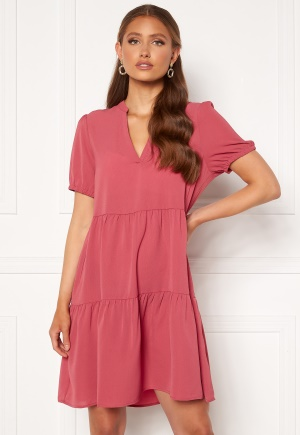ONLY Nova Lux S/S Thea Dress Solid Baroque Rose S