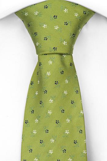 Silke Slips, Munter grønn, små, delikate hvite og blå blomster, Notch RUAIRI