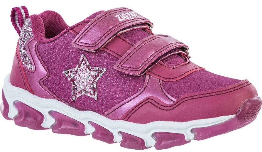 ZigZag Biholy Blinkande Sneaker, Damson, 24