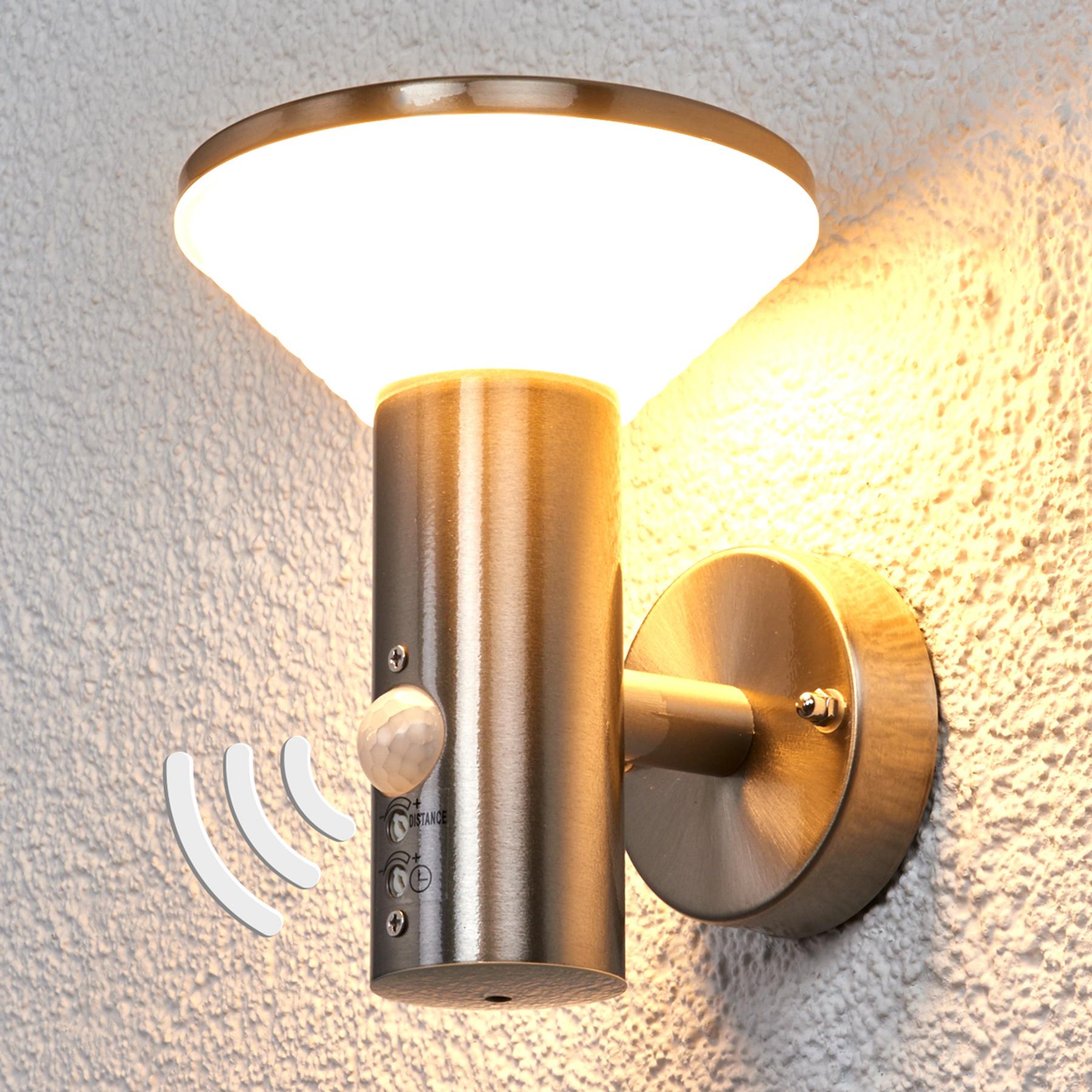LED-seinävalaisin Tiga tunnistimella, ulkokäyttö