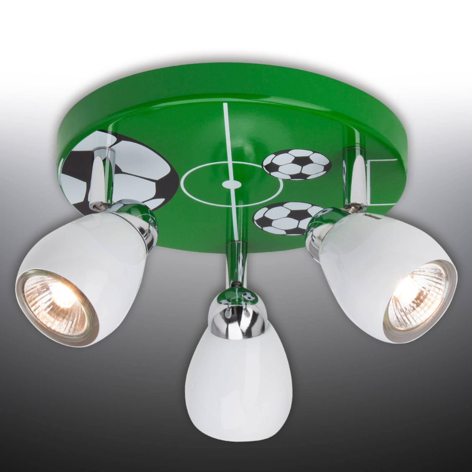 Soccer-LED-kattovalaisin, kolmilamppuinen