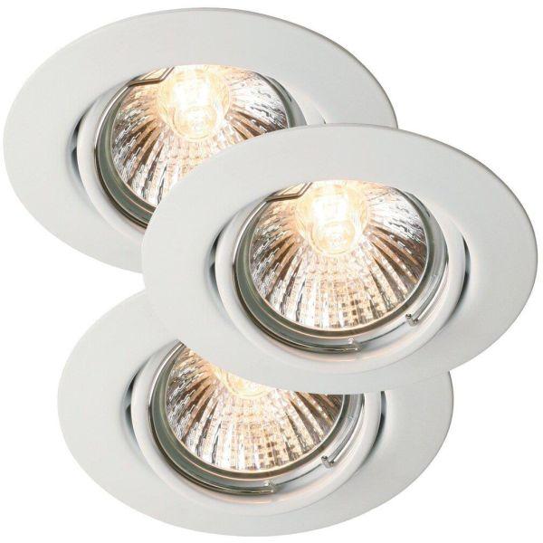 Nordlux TRITON 54540101 LED-kohdevalo 3 kpl, GU10, IP23, 35W valkoinen