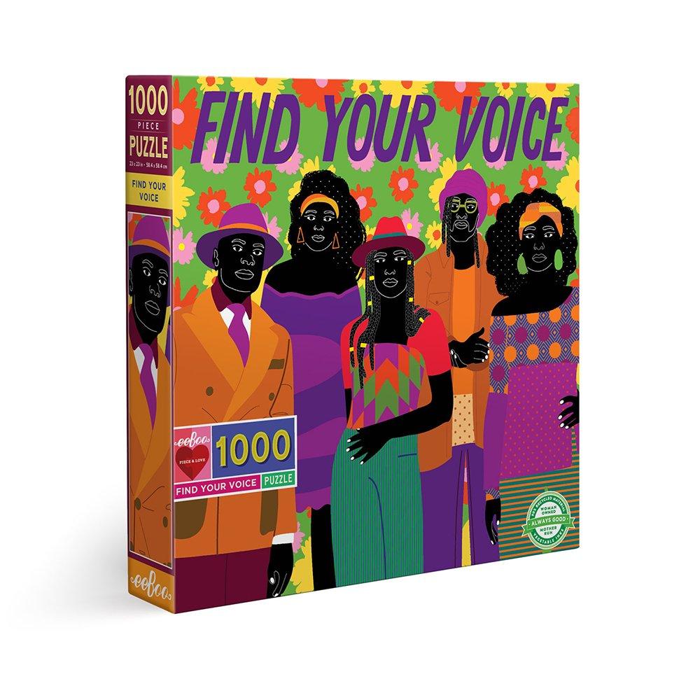 eeBoo - Puzzle 1000 pcs - Find Your Voice (EPZTFRV)