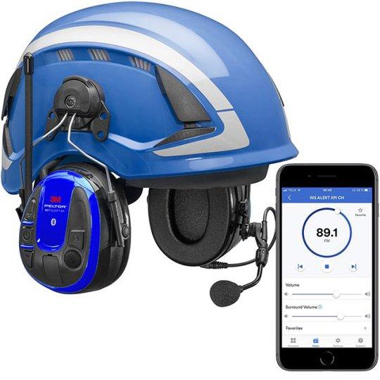 3M Peltor WS Alert XPI Kuulonsuojainpaketti kypärällä ja sovelluksella