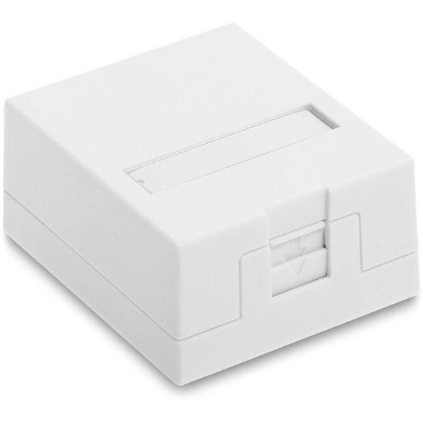 Eurolan 12B-04-01WT-1 Pistorasialaatikko 1 laatikolle/liittimelle