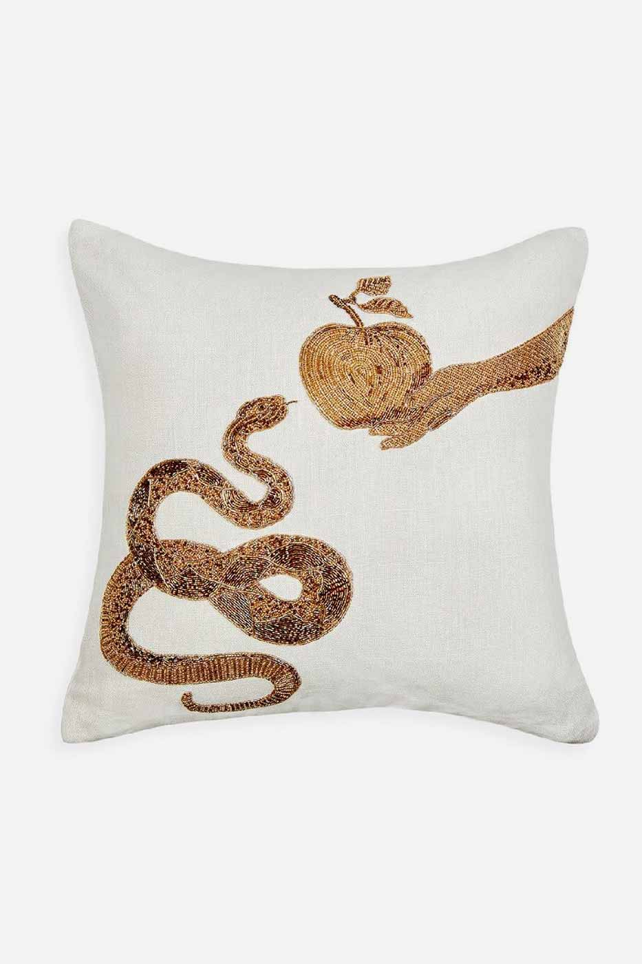 Kudde Muse Snake and Apple 50x50 cm