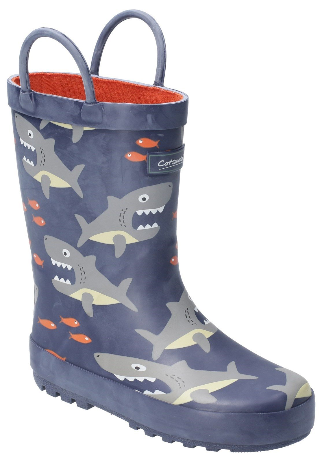 Cotswold Kids Puddle Waterproof Pull On Boot Multicolor 20962 - Shark 4.5