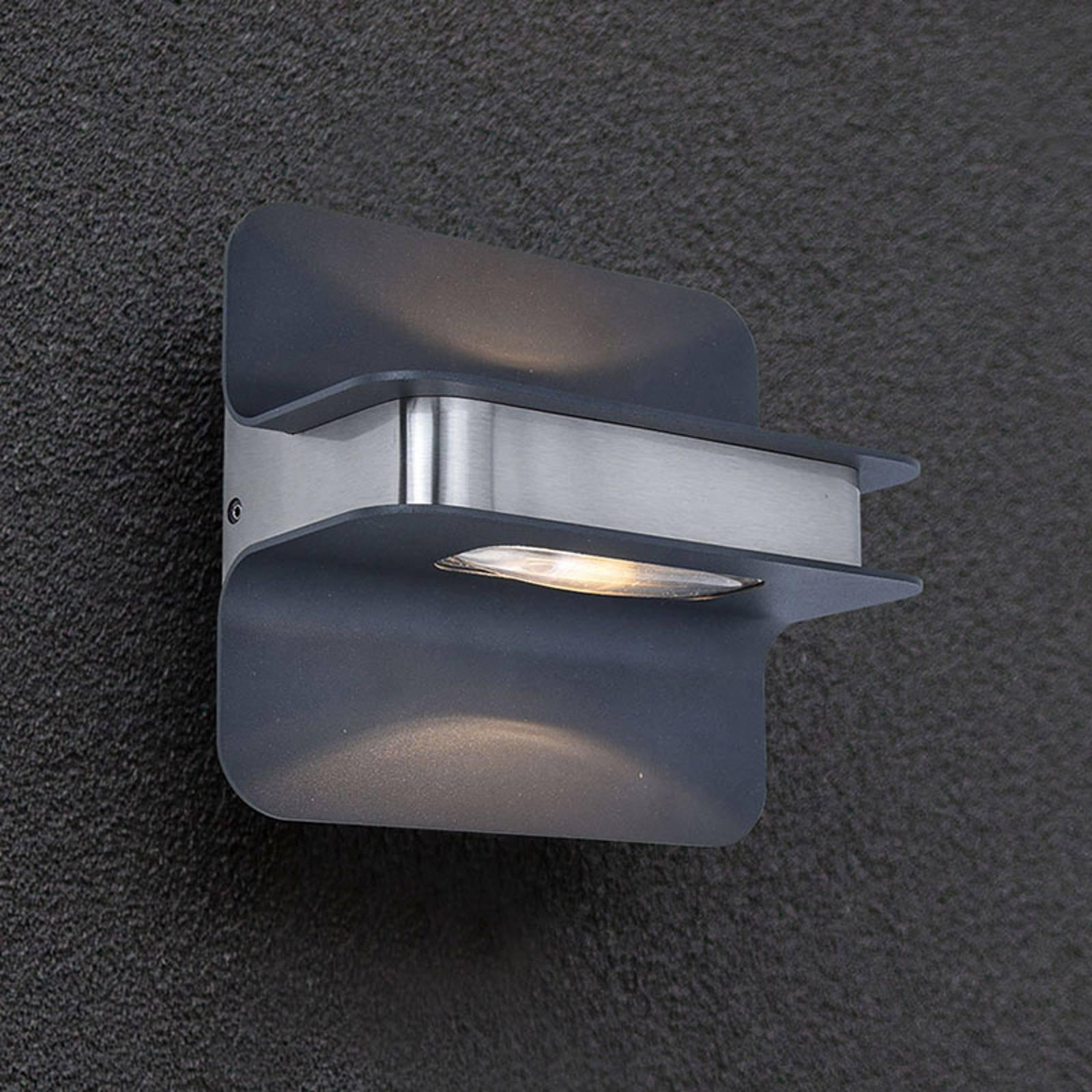 LED-utevegglampe Hill antrasitt/rustfritt stål