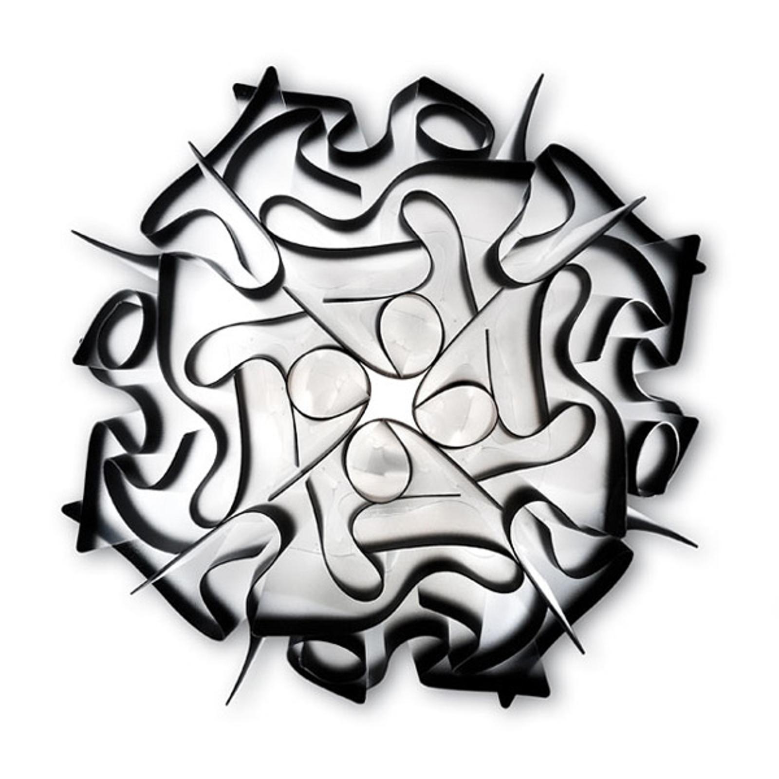 Slamp Veli -design-seinävalo, Ø 32 cm, antrasiitti