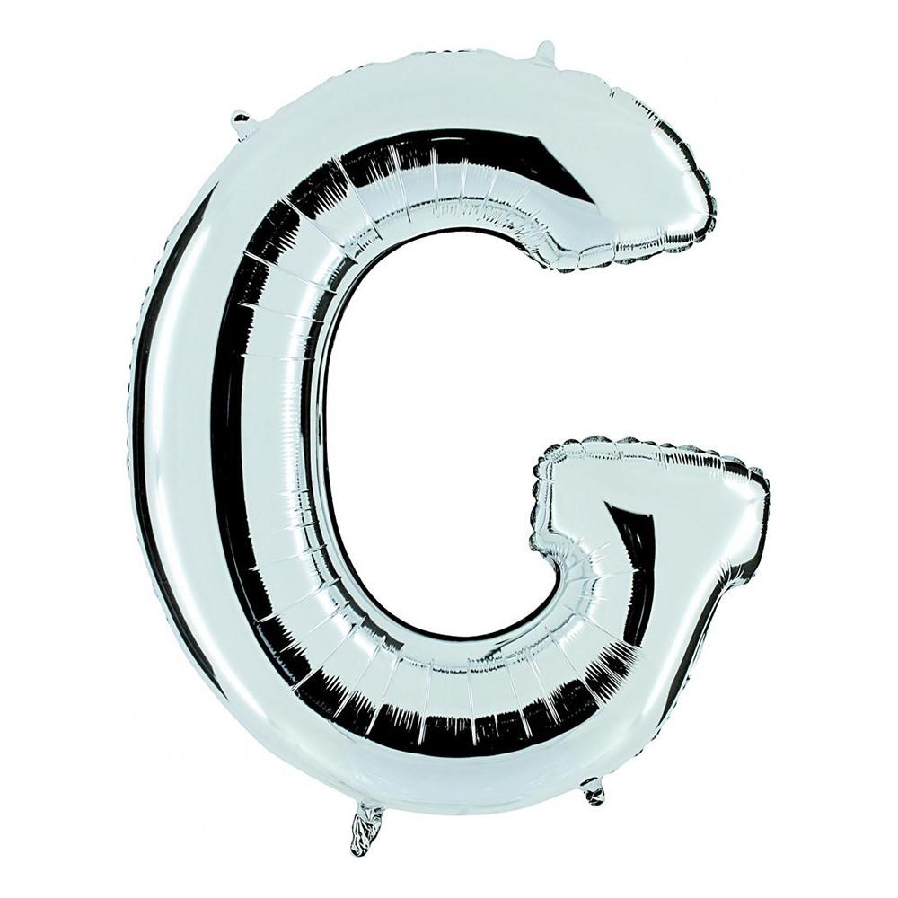 Bokstavsballong Silver - Bokstav G