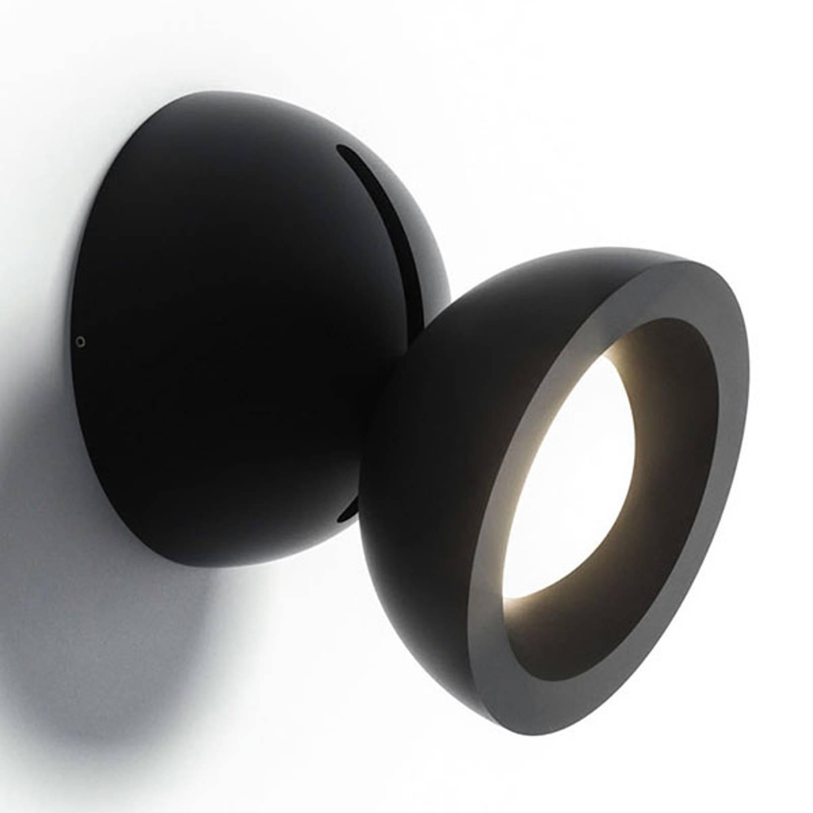Axolight DoDot LED-seinävalaisin, musta 46°