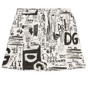 Dolce & Gabbana Graffiti Kjol Vit 6 år
