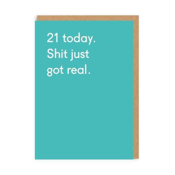 21 Today Birthday Greeting Card