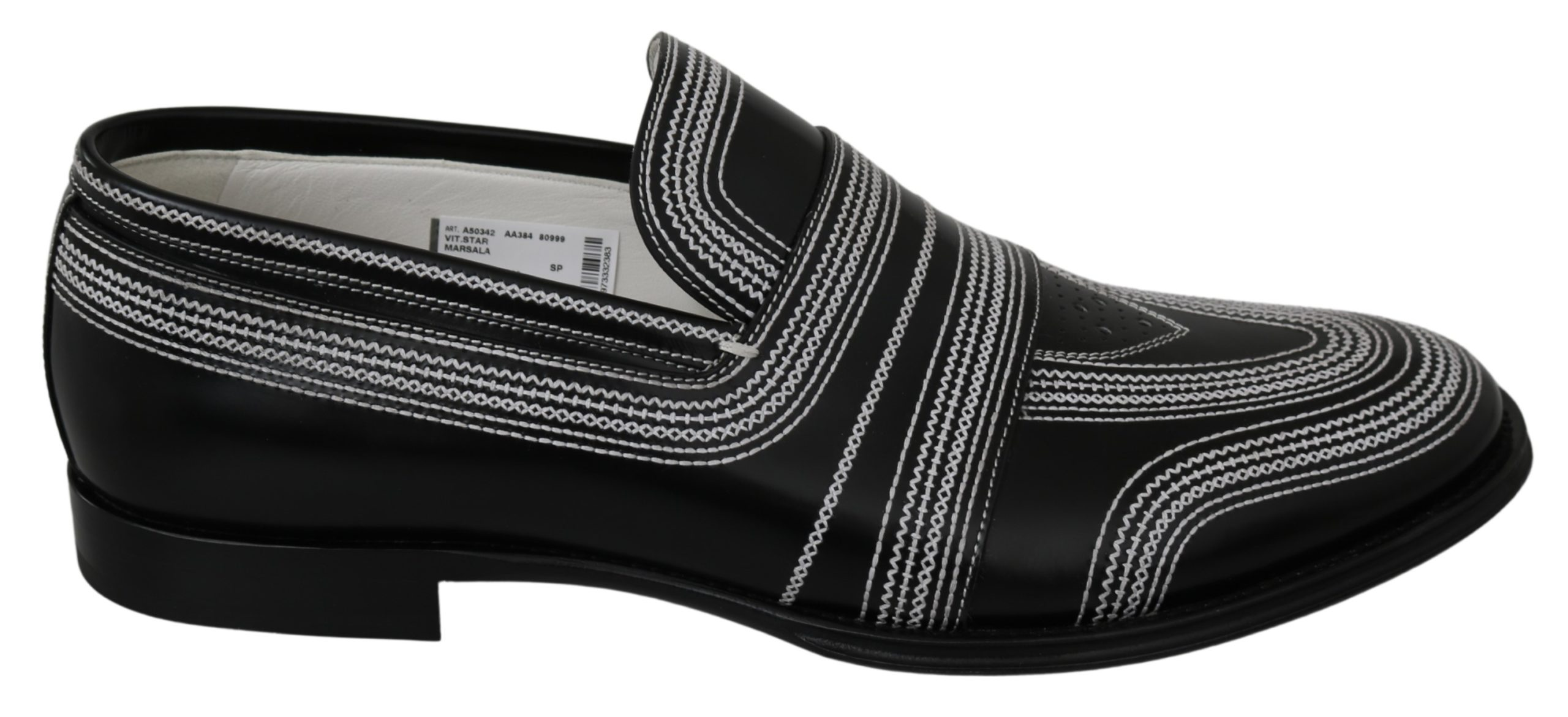 Dolce & Gabbana Men's Leather Loafer Black MV3003 - EU44/US11