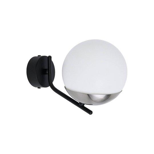 Vegglampe Torbole, opal/nikkel, 1 lyskilde