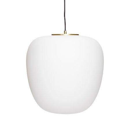 Taklampe Glass Ø40xh40 - Hvit