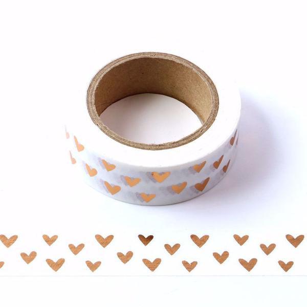 Copper Hearts Washi Tape