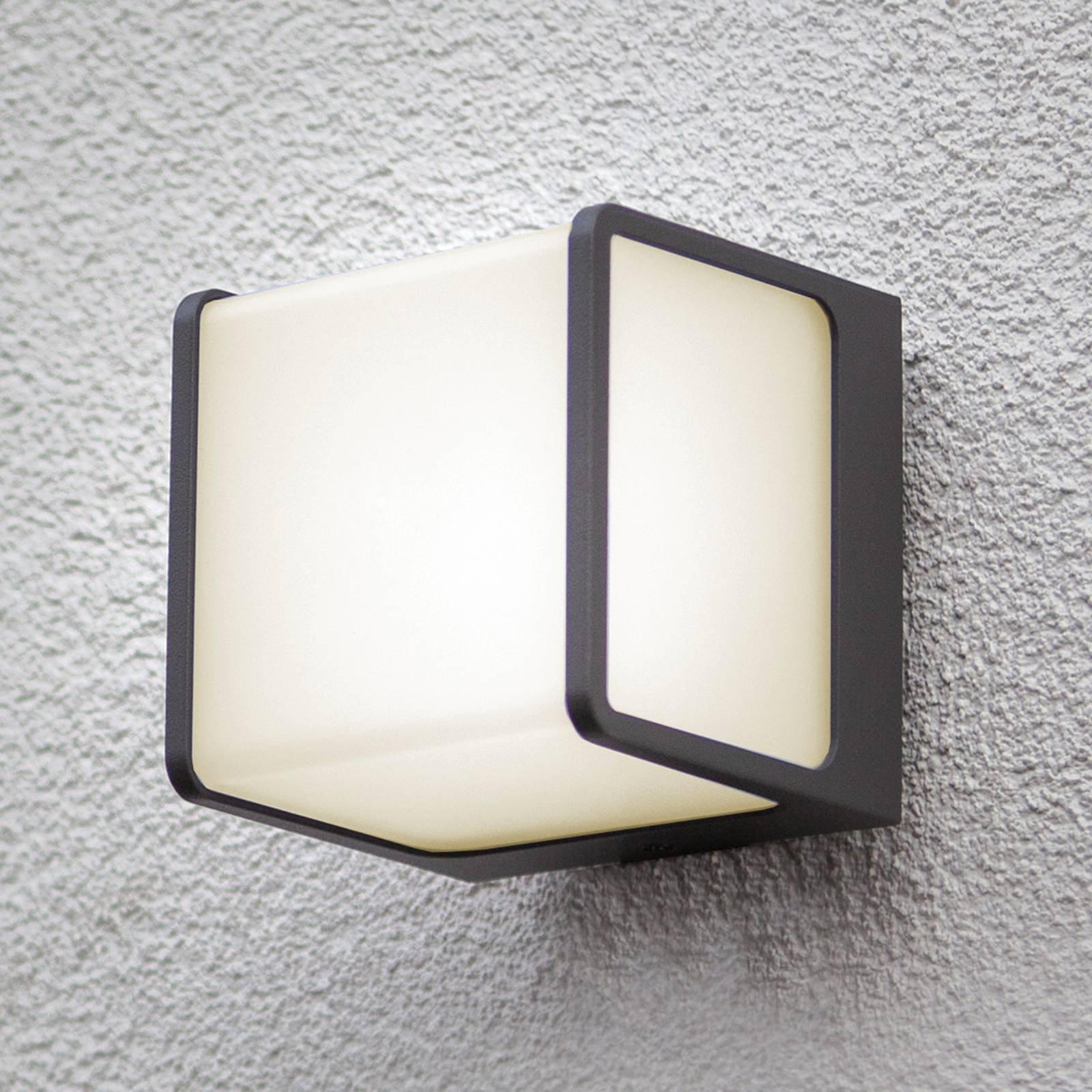 Utendørs LED-vegglampe Telin, antrasitt