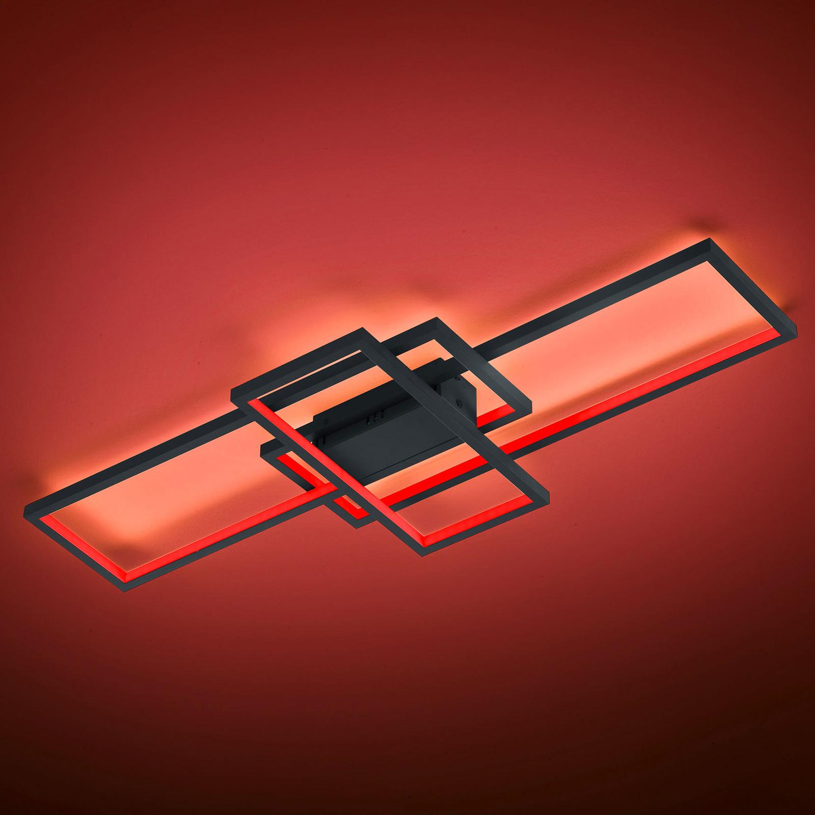 Trio WiZ Thiago LED-kattovalo 104 cm, antrasiitti
