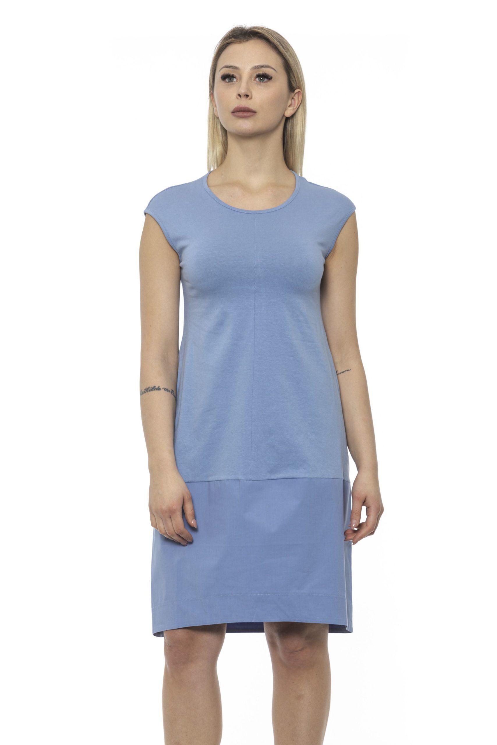 Alpha Studio Women's Chambray Dress Light Blue AL1375003 - IT40 | XS