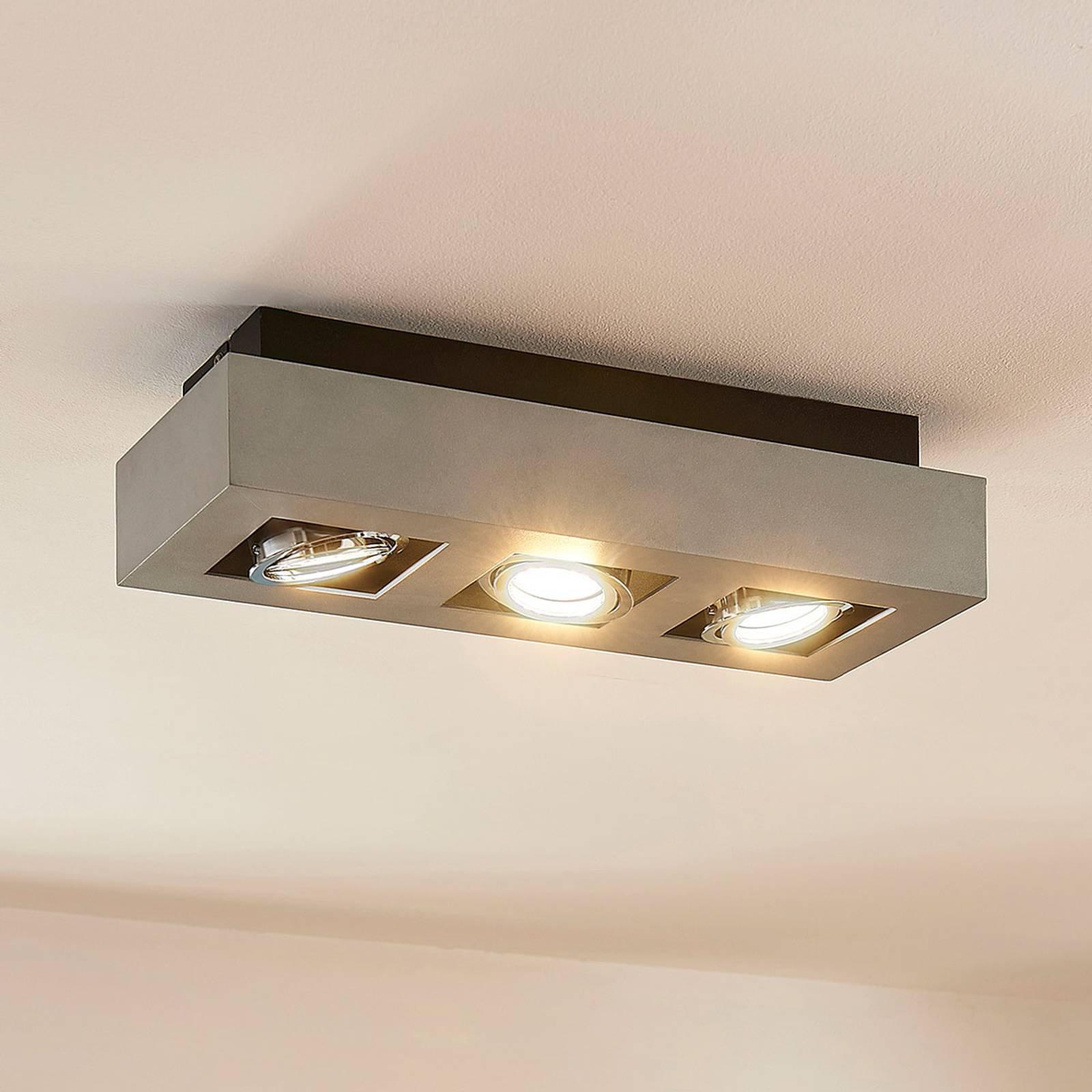 LED-taklampe Vince med 3 lys