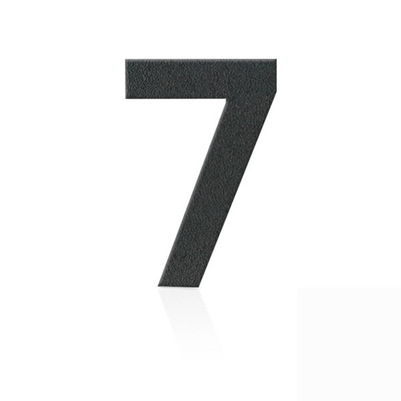 Ruostumaton teräs talonumero 7, grafiitinharmaa