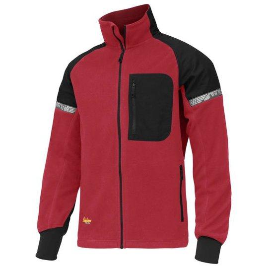 Snickers 8005 AllroundWork Takki punainen/musta, tuulenpitävä XS