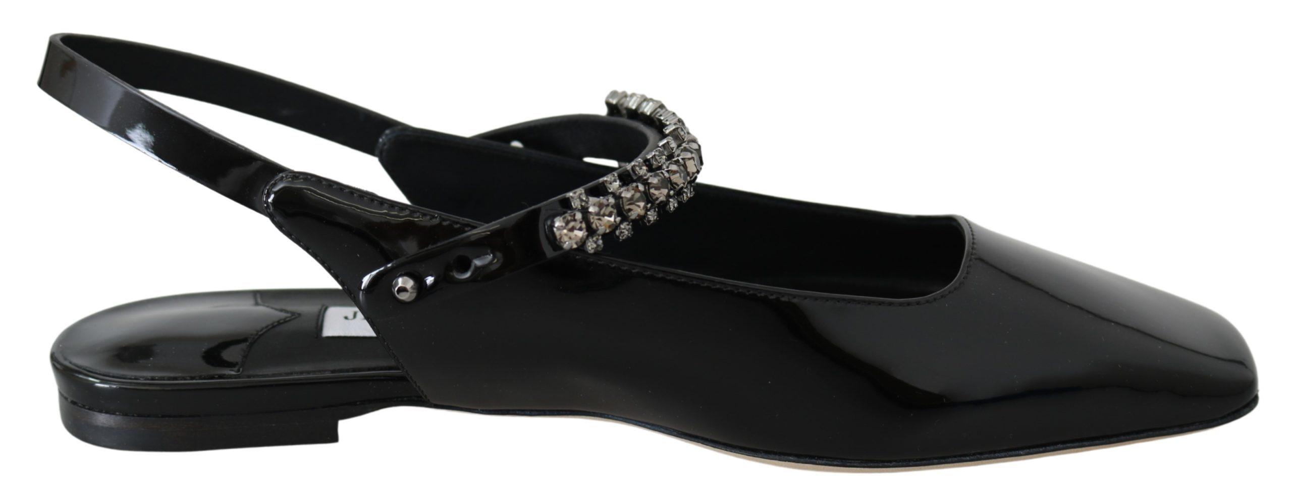 Jimmy Choo Women's Mahdis Flat Shoes Black 192954629175 - EU36.5/US6.5