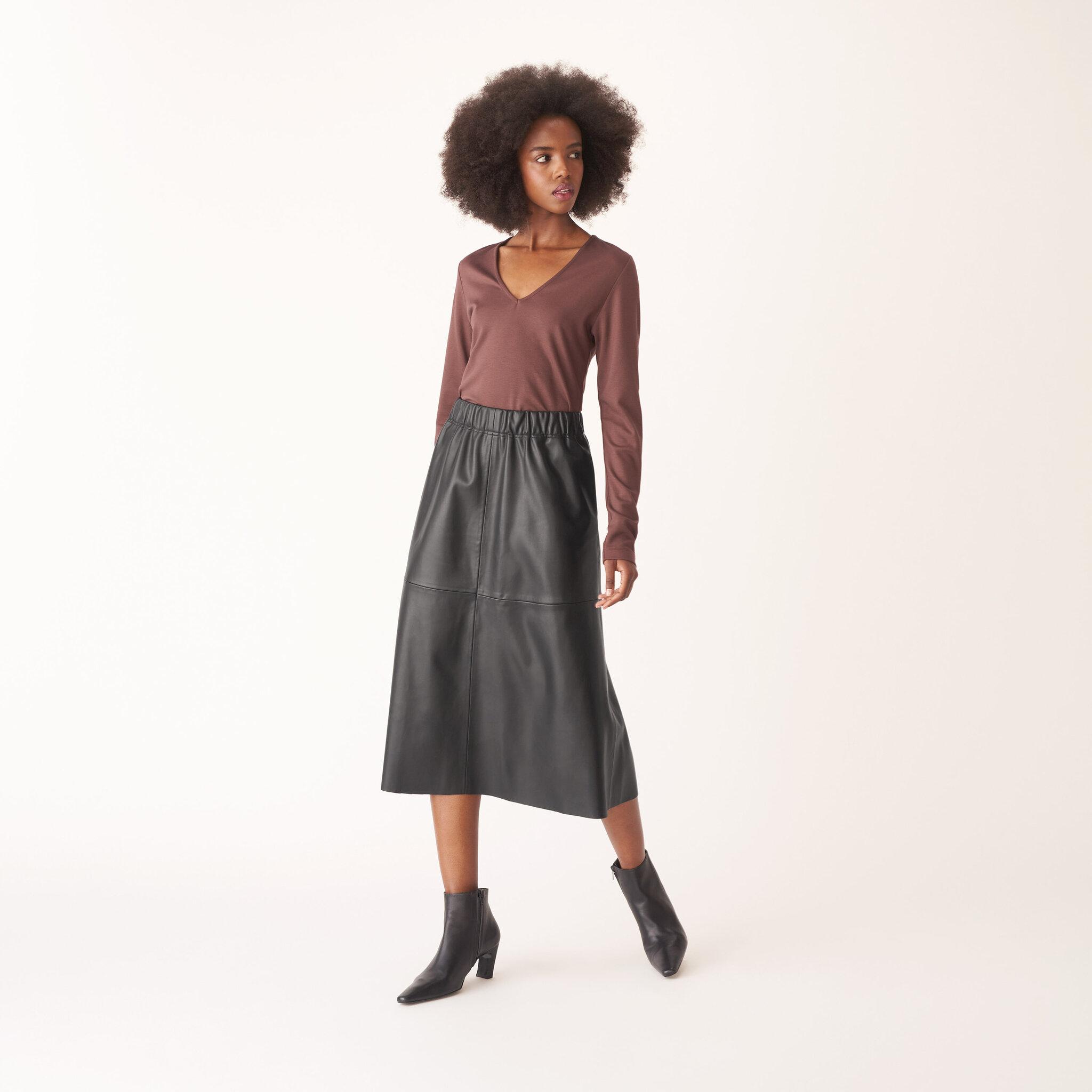 Kjol i läderimitation VIOLETTA