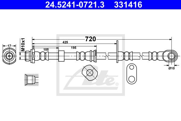 Jarruletku ATE 24.5241-0721.3