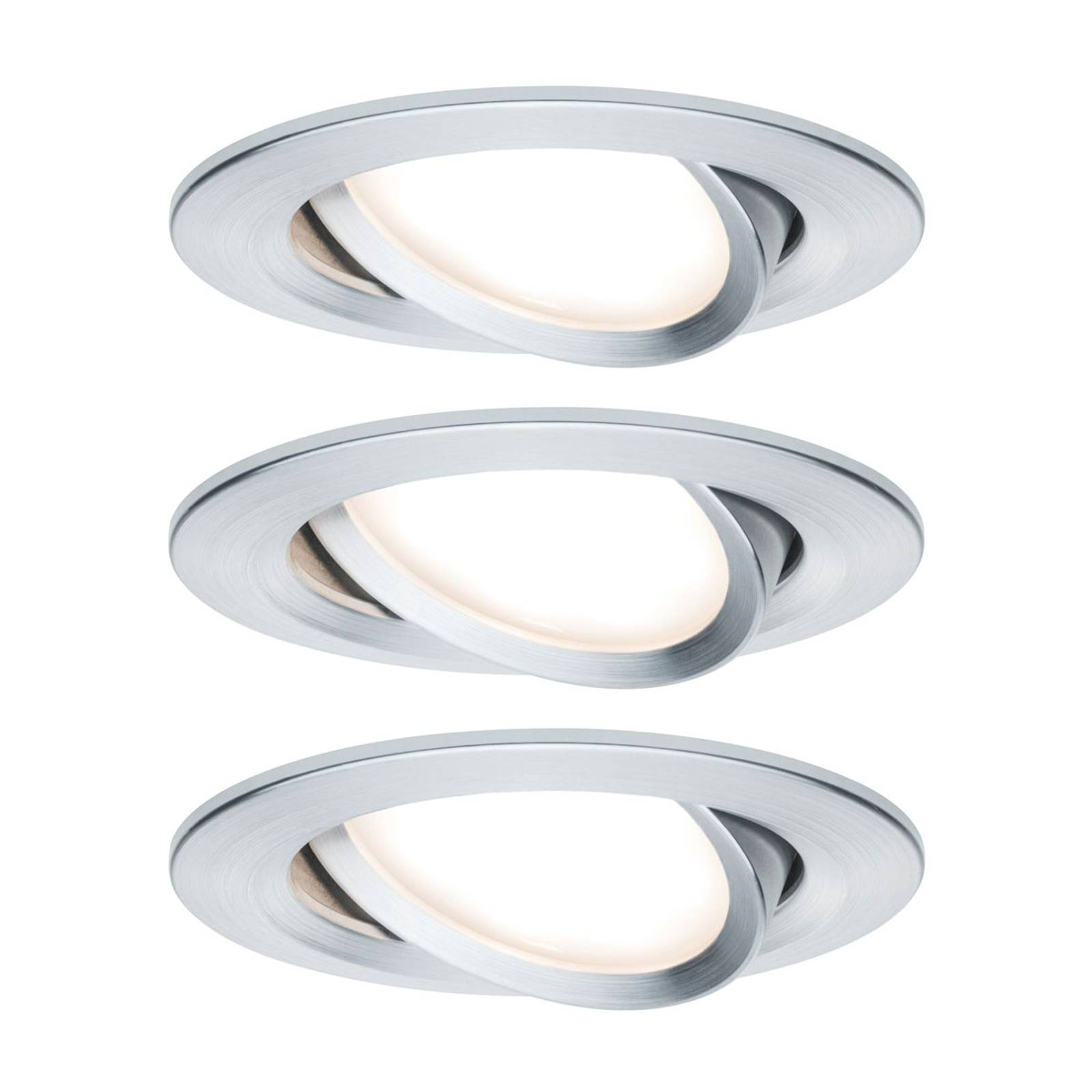 Paulmann 3 spottia Nova Coin pyöreä alumiini