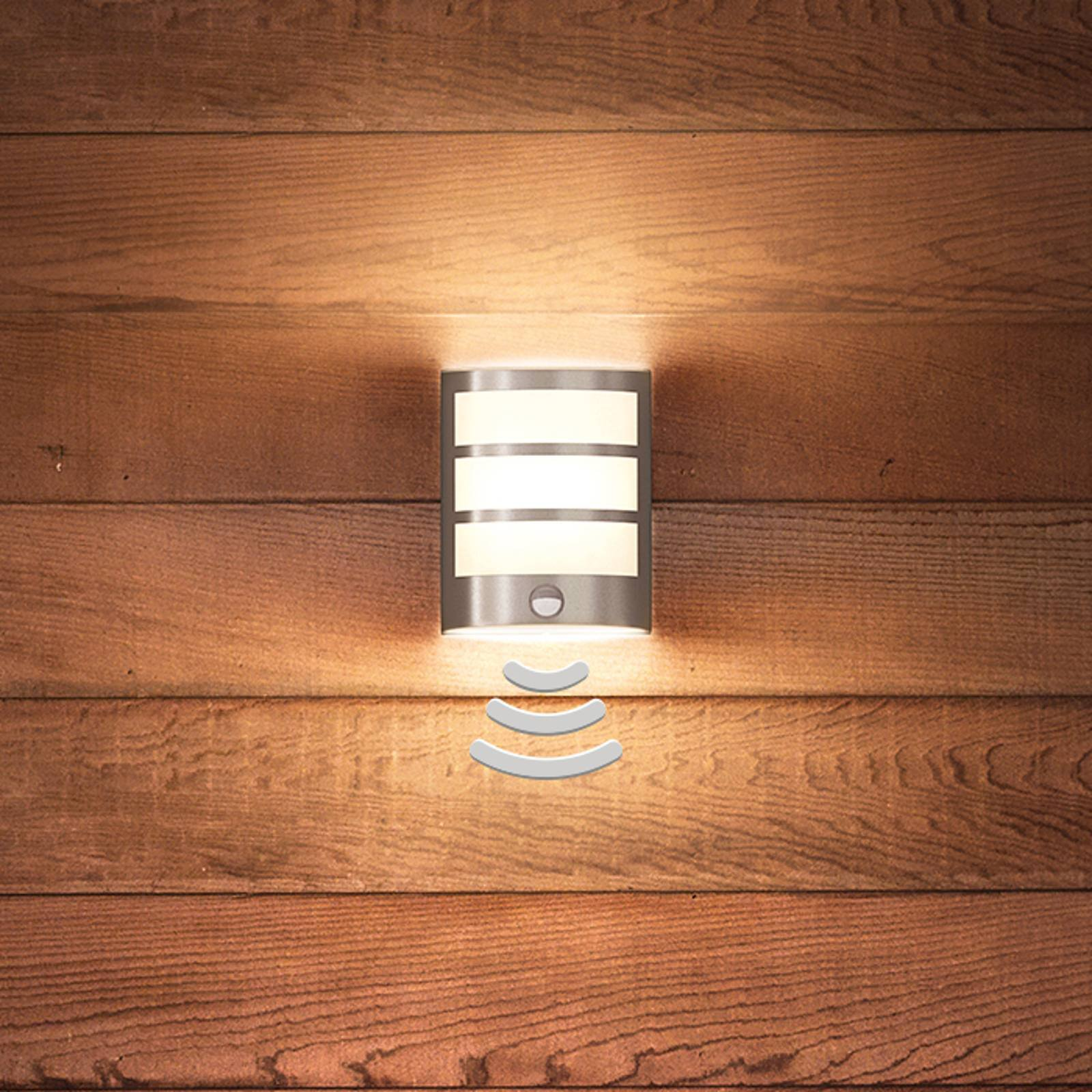 Skjønt LED-vegglys Python m. bev.-sensor