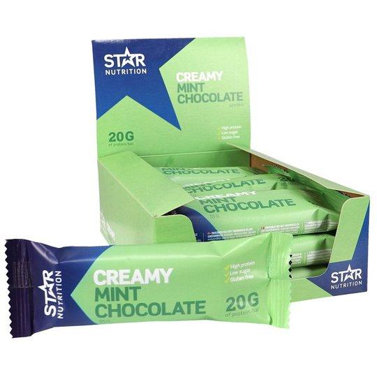 Hel Låda Proteinbars Mintchoklad 12-pack - 25% rabatt
