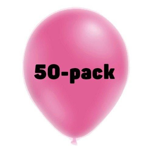 Ballonger Neonrosa - 50-pack