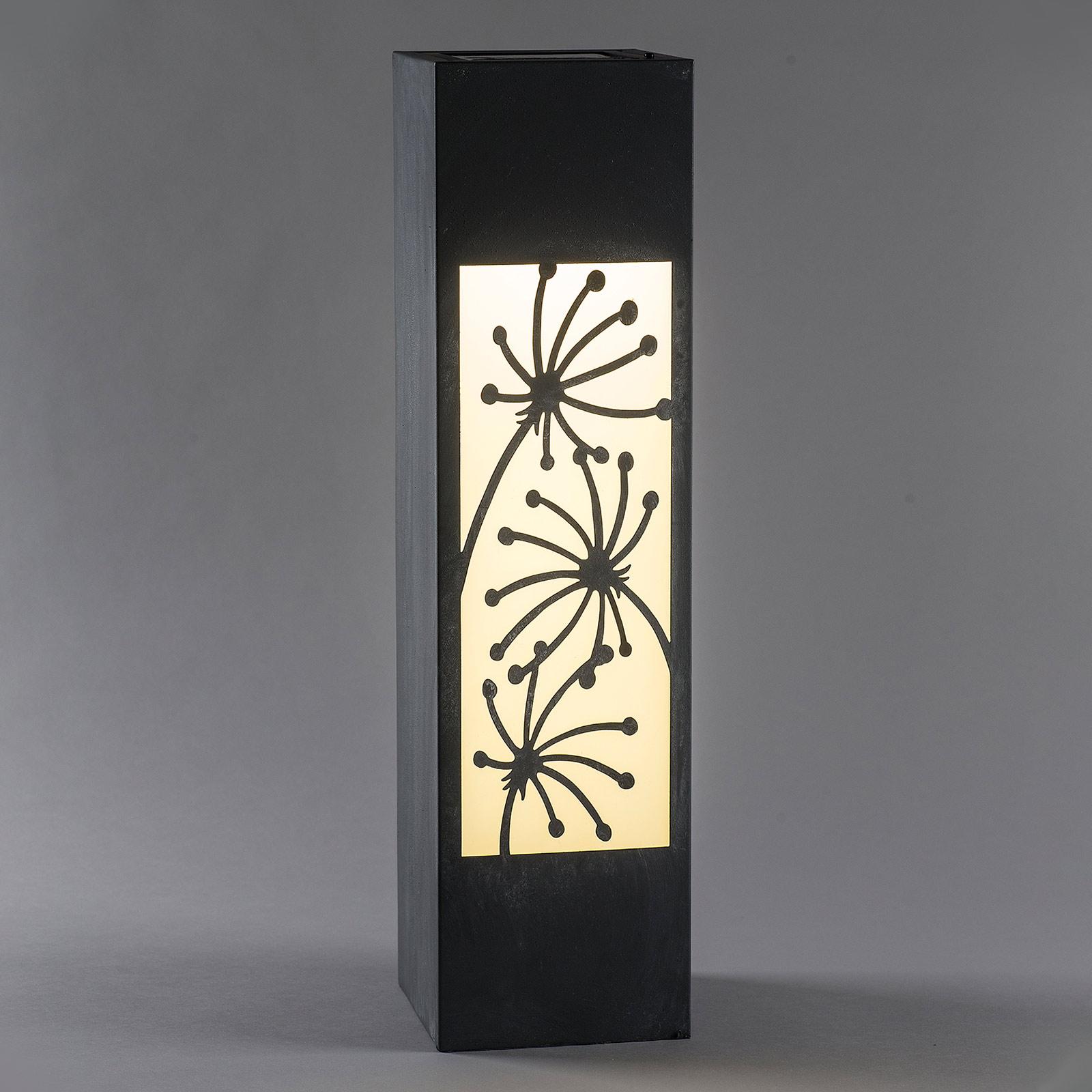 Solar-LED-valaisinpylväs betonijäljitelmä kukka