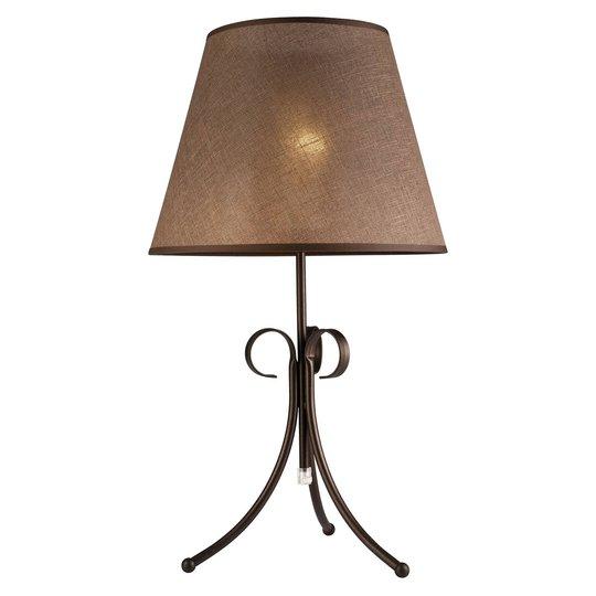 Tekstil-bordlampe Midgrad, brun