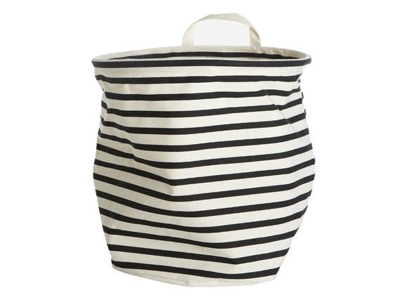 House Doctor - Storage Bag Stripes Medium - Black/White (Ls0350)