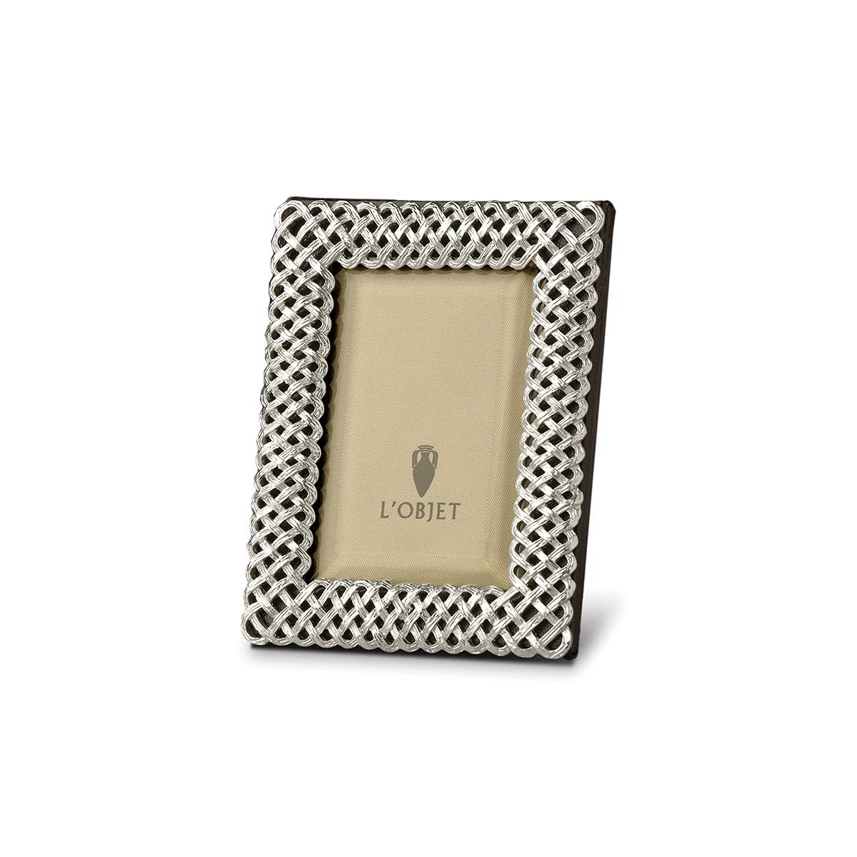 L'Objet I Braid Frame Small Platinum