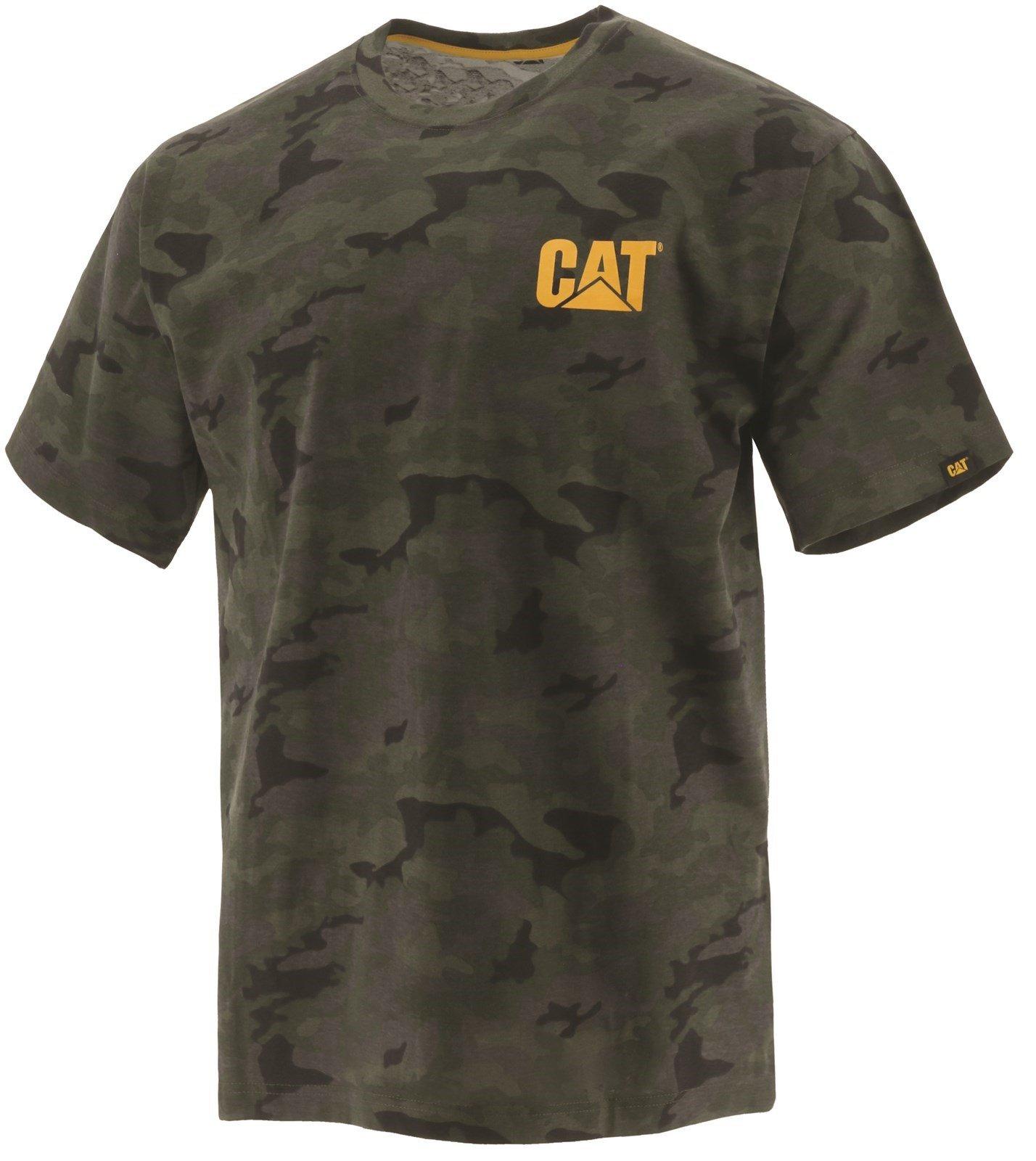 Caterpillar Unisex Trademark T-Shirt Night Camo 32227 - Night Camo Sml