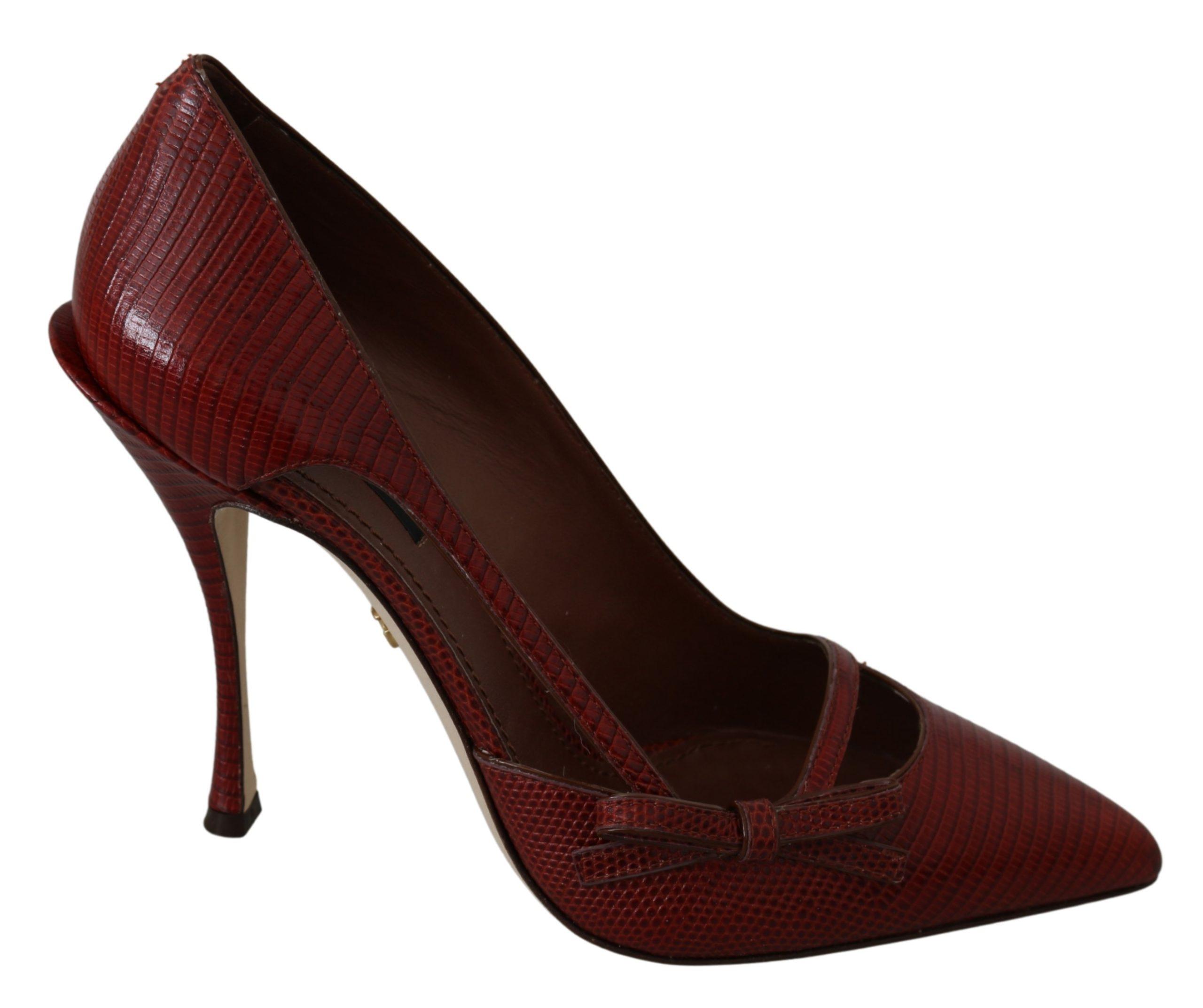 Dolce & Gabbana Women's Leather Slim High Pumps Red LA7363 - EU39/US8.5