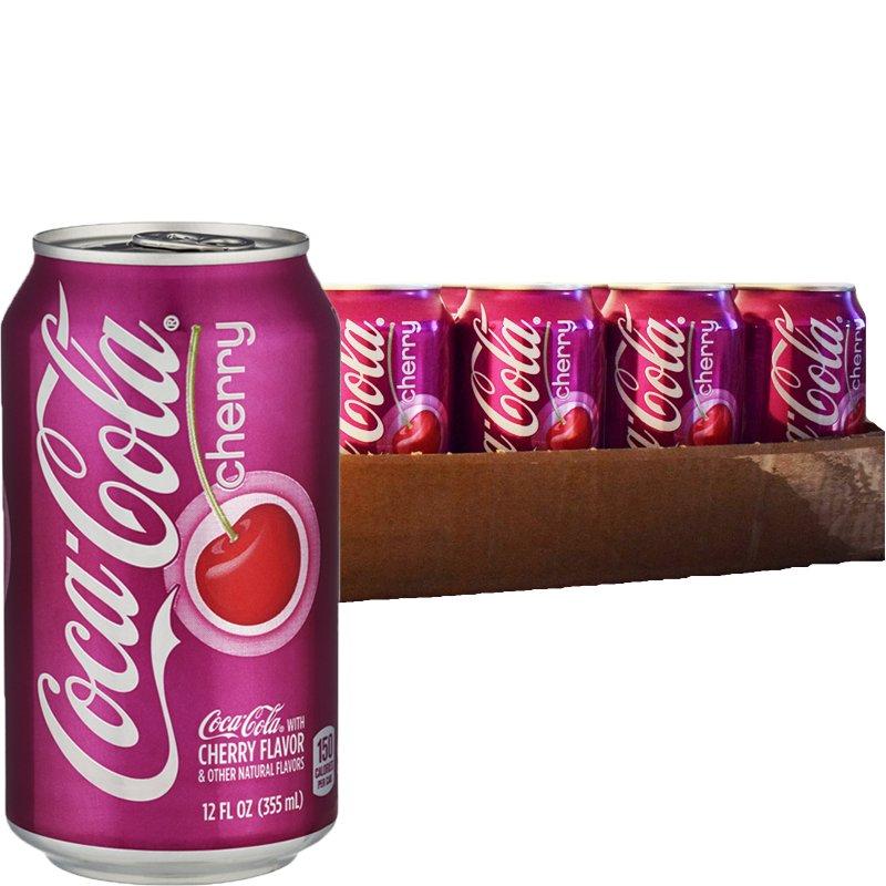 """Hel Platta Läsk """"Coca Cola Cherry"""" 24 x 355ml - 33% rabatt"""